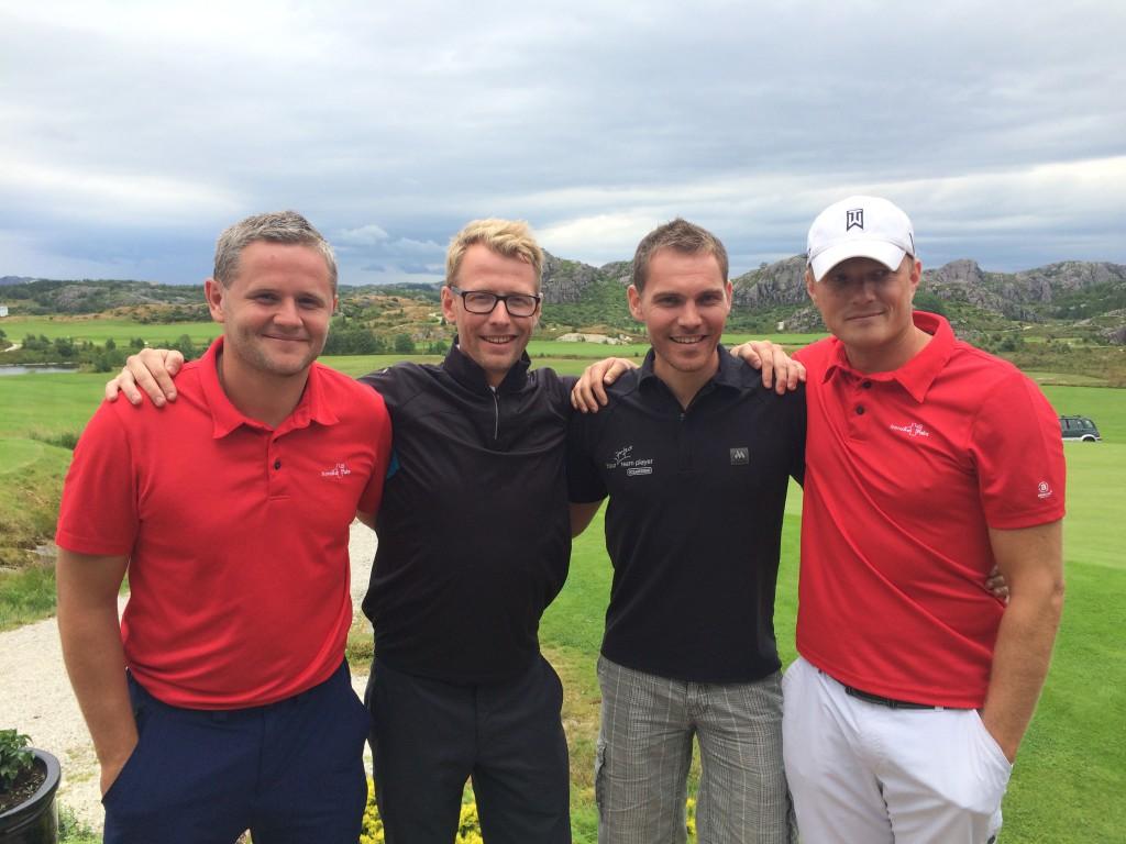 Fra venstre Rune Eik, Terje Tengesdal, Arild Nodland og Øyvind Sælevik.