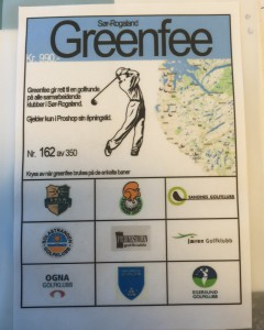 Greenfee tilbud til våre medlemmer
