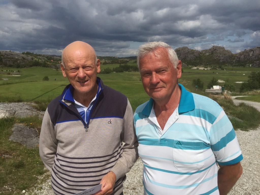 : Arne og Åge var to fornøyde vinnere…
